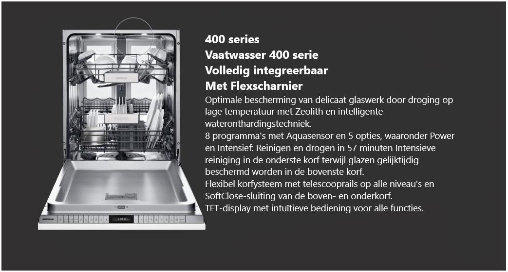 Volledig integreerbare vaatwasser 400 serie Gaggenau